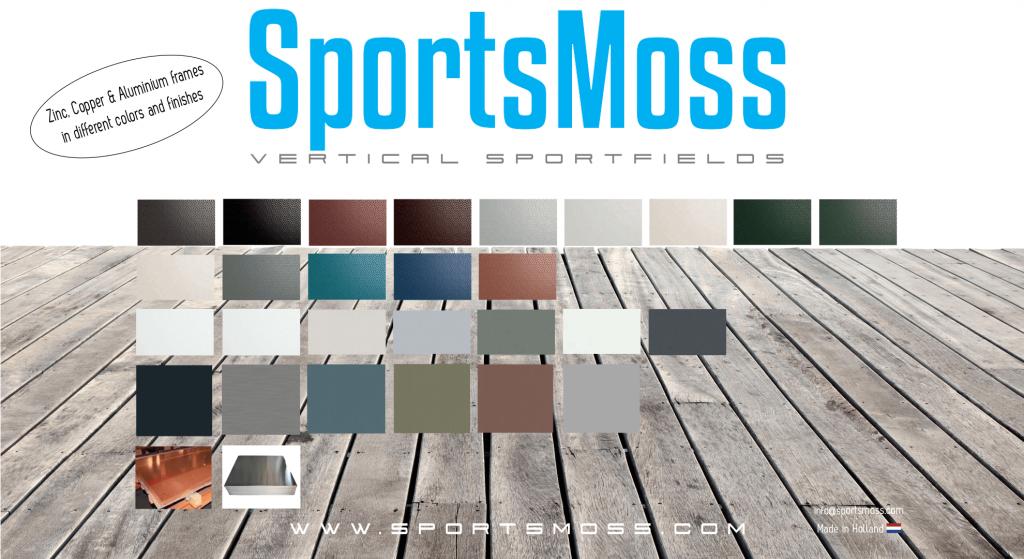 SportsMoss lijst kleuren